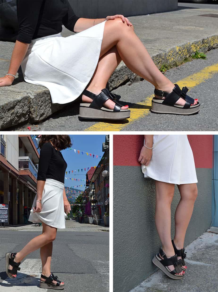 sandales à plateforme ELVIO ZANON