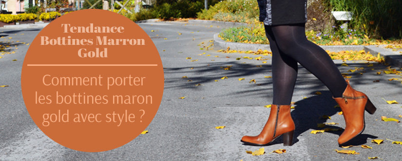 Chaussuresonline-article-tendance-chaussures-bottines-marron-gold-automne2018-look-idée-tenues