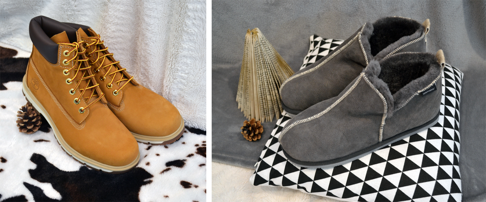 chaussuresonline-idéescadeaux-papa-noël-hiver-fête-cocooning-chaud-sheperdofsweden-chaussures-chaussons-timberland-vacances