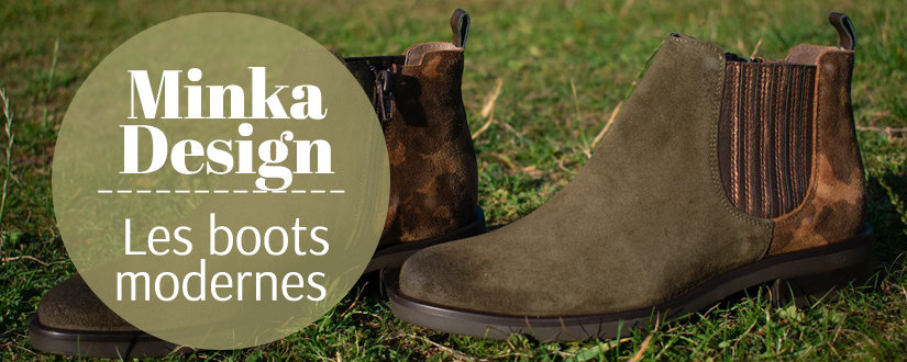 Bottines Minka Design chez Chaussuresonline
